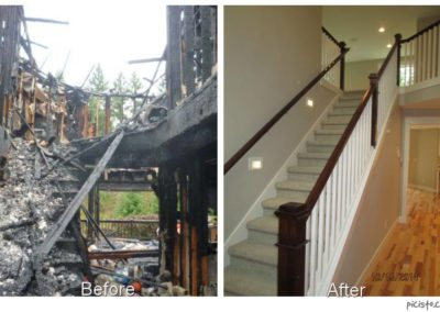 Stairway Fire Damage Restoartion